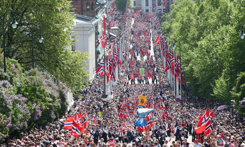Feiring av 17. mai i Oslo sentrum i fjor. (Foto: Ryan Kelly / NTB scanpix)