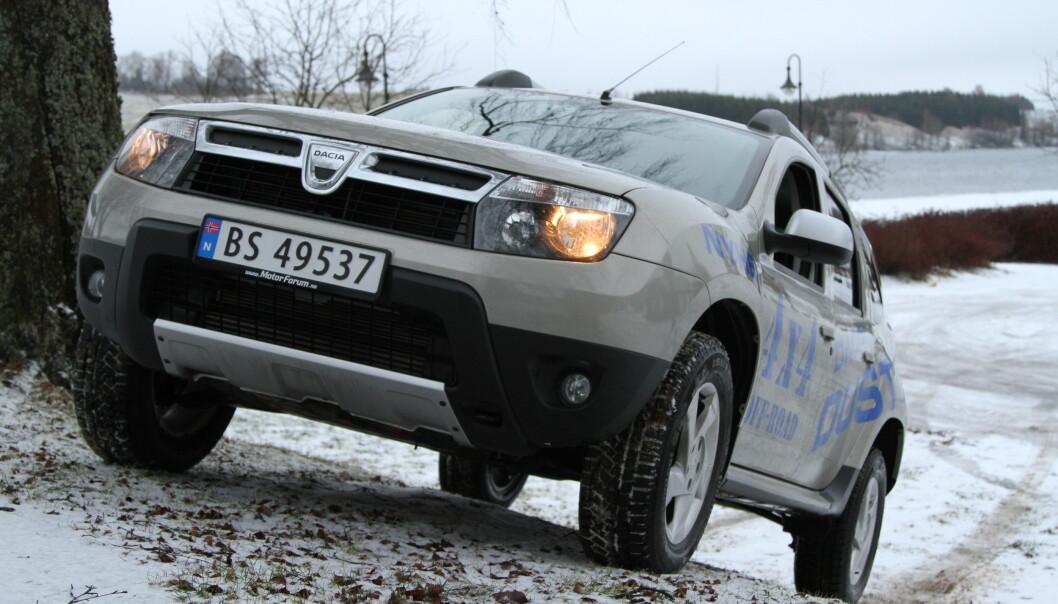<strong>DACIA PÅ BUNNEN:</strong> Renaults billigmerke Dacia går oftest igjen blant bilene med mange feil. I Norge er Duster den billigste familie-SUVen i butikken. Foto: Rune Korsvoll