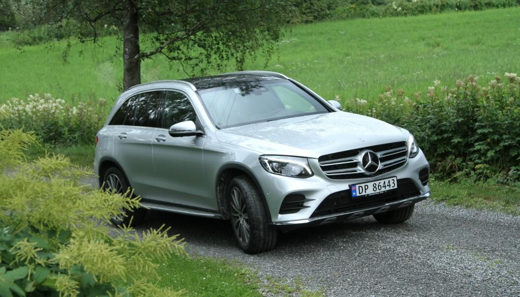 BEST AV ALLE: Mercedes-Benz GLC er bilen med færrest feil av alle i undersøkelsen til TÜV: Foto: Rune Korsvoll