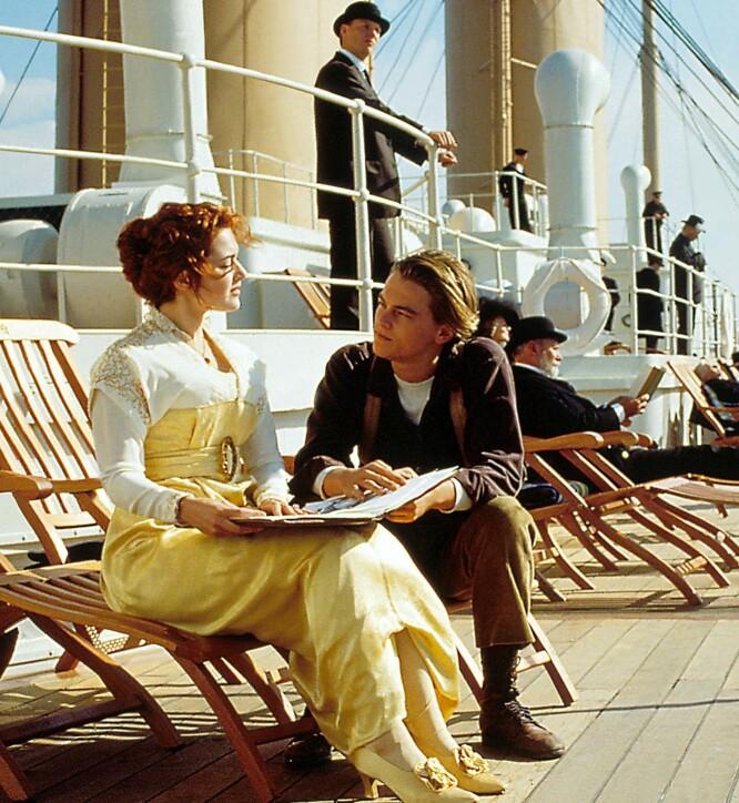 KAPRET ROLLENE: Kate Winslet spilte karakteren Rose, mens Leonardo DiCaprio spilte Jack. Foto: NTB Scanpix