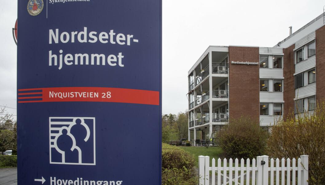 Mange beboere på Nordseterhjemmet i Oslo har dødd av covid-19. Nå har kommunen fått bekreftet det ellevte dødsfallet ved sykehjemmet. Foto: Terje Bendiksby / NTB scanpix