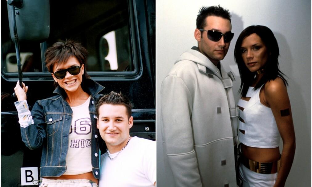 <strong>DUO:</strong> I år 2000 reiste de to britiske artistene Victoria Beckham og Dane Bowers Europa rundt for å promotere sitt musikalske samarbeid. Da skal det også ha vært mye fest og moro. Foto: NTB Scanpix