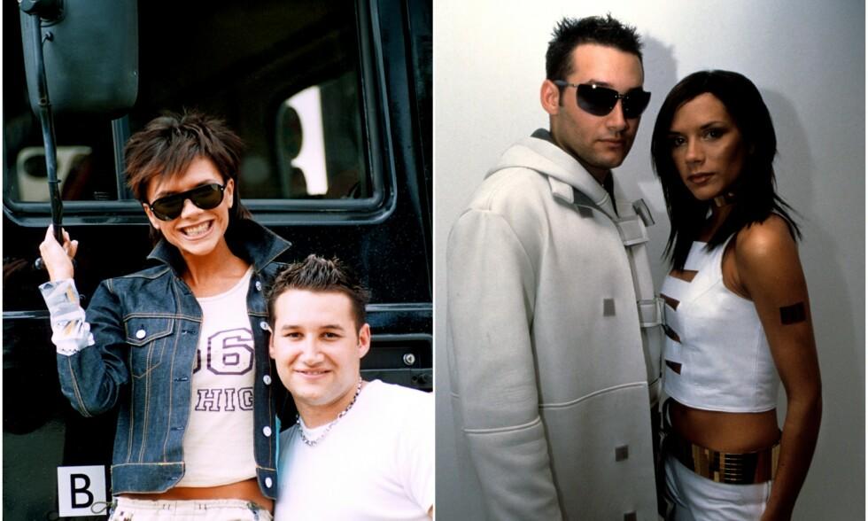 DUO: I år 2000 reiste de to britiske artistene Victoria Beckham og Dane Bowers Europa rundt for å promotere sitt musikalske samarbeid. Da skal det også ha vært mye fest og moro. Foto: NTB Scanpix