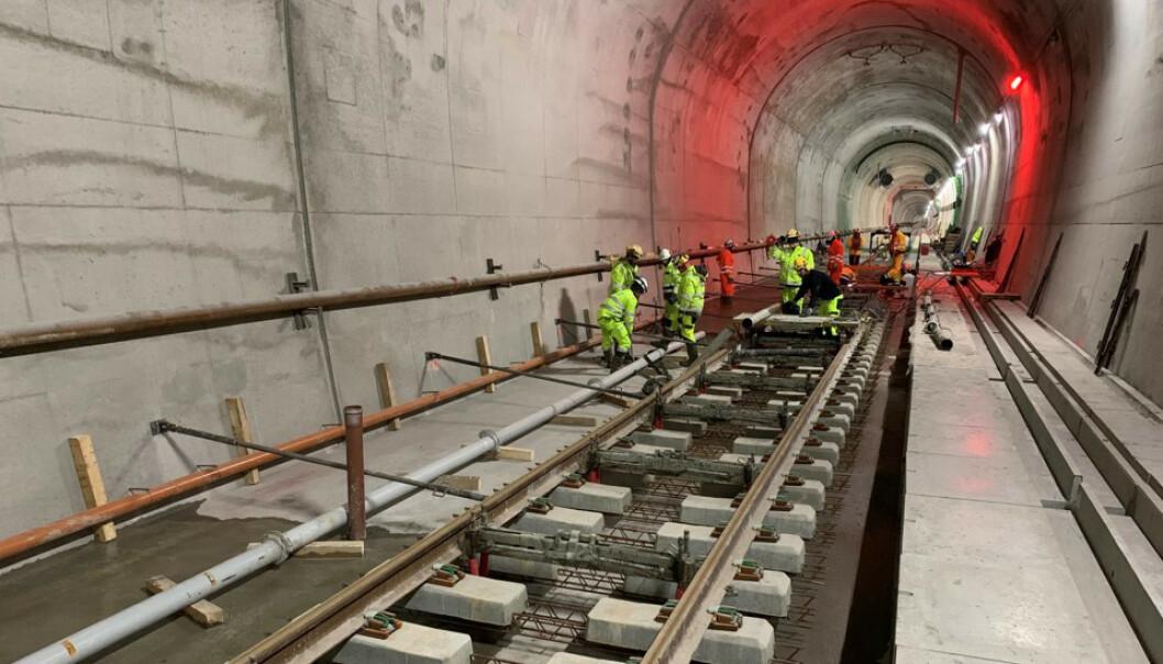 <strong>JERNBANEPROSJEKTER:</strong> Regjeringen vil prioritere allerede igangsatte prosjekter. Foto: Bane NOR