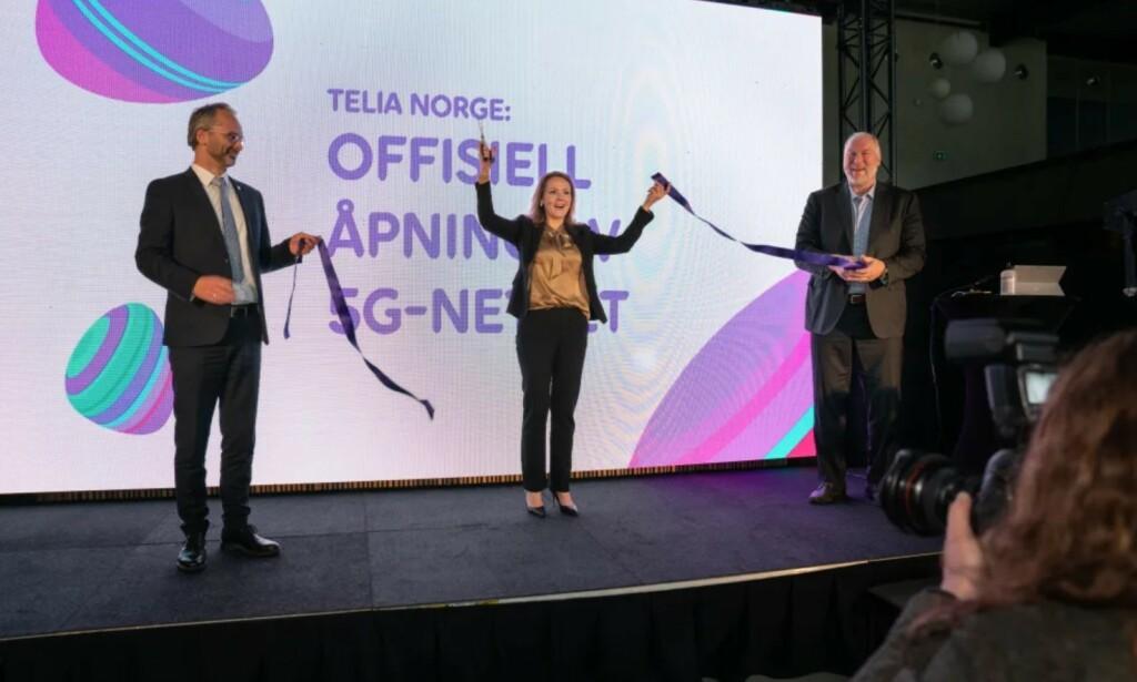 5G: Telia åpnet sitt 5G-nett for Lillestrøm og enkelte steder i Oslo. Foto: Foto: Børge Solem/Telia