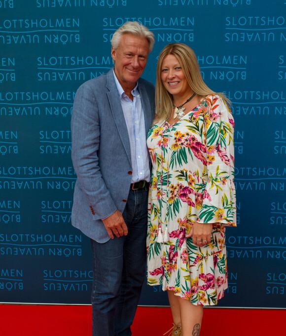 LYKKELIG: Bjørn Borg og kona Patricia Ôstfeldt. Foto: NTB Scanpix