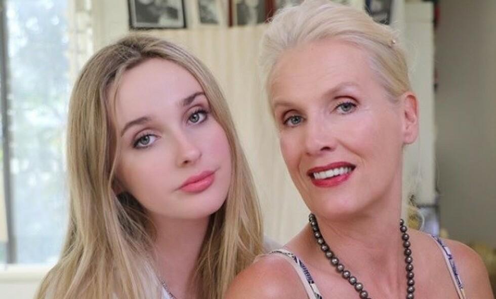 MOR OG DATTER: Tv-profil Gunilla Persson har flere ganger fått kritikk for bildene hun deler av datteren sin. Nå svarer Erika Persson selv på bildekritikken. Foto: Skjermdump fra Instagram/thegunilla