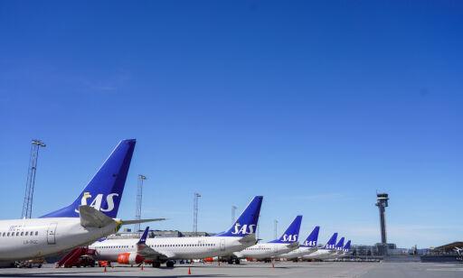 image: SAS-passasjerer må bruke munnbind