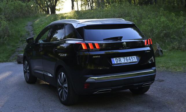 SPORTY: 3008 er et friskt design-pust i SUV-verdenen. GT har blant annet 19-tommere som standardutstyr. Foto: Rune M. Nesheim