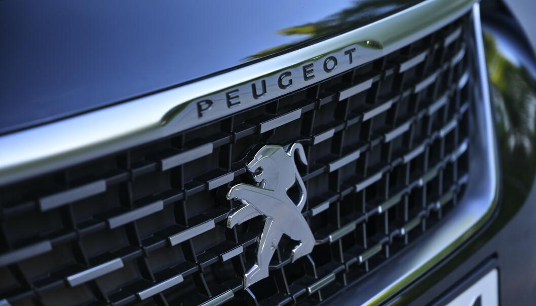 <strong>LUKKET:</strong> Det er ikke mange åpninger i fronten på Peugeot. Foto: Rune M. Neshein