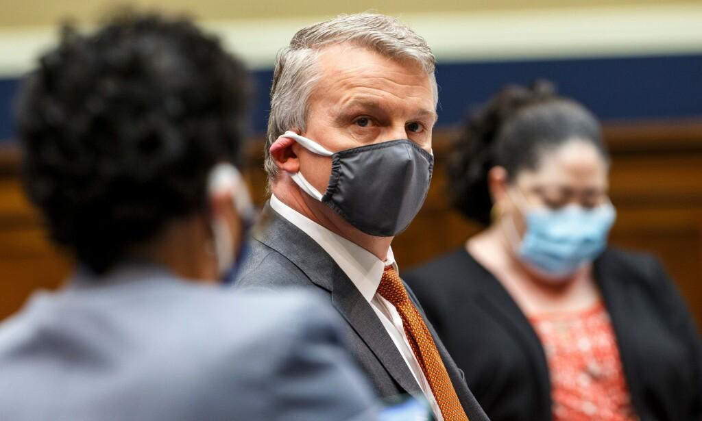 HØRING: Rick Bright før høringen i Representantenes hus startet 14. mai 2020. Foto: Shawn Thew / AFP / NTB scanpix