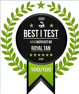 TESTVINNER: Royal Tan ble kåret som best i test i Hardworkout.no sin test av betakaroten.