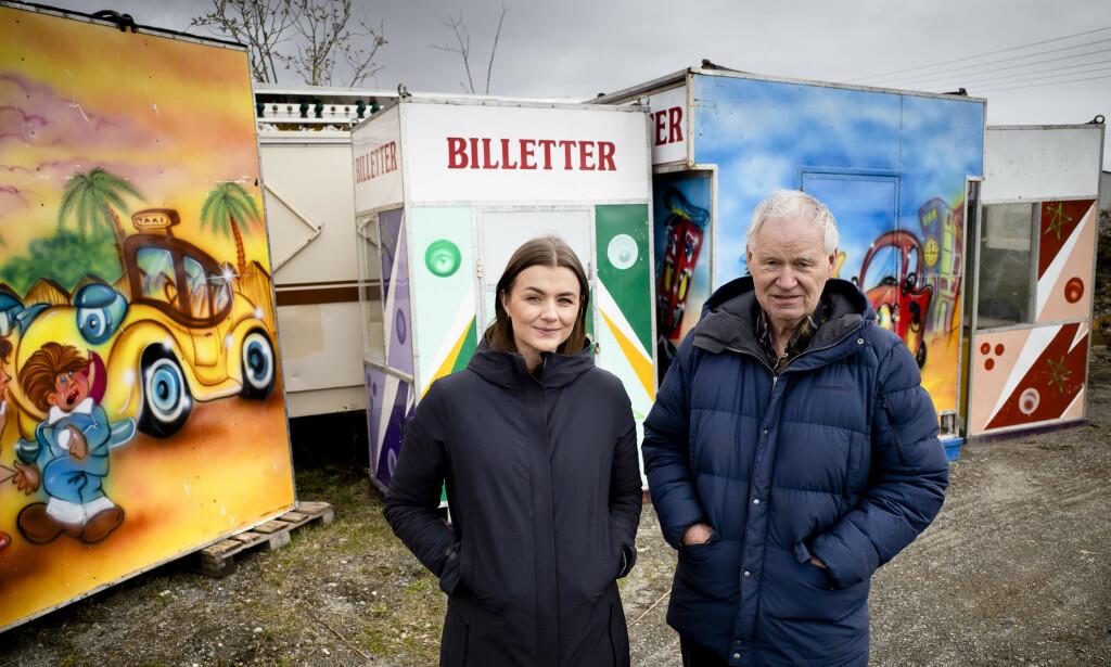 ARVEN: Ida og Hugo Johansen er begge vant til å være på veien fra midten av april til midten av oktober. Nå er de mest bekymret for om familiefirmaet overlever.