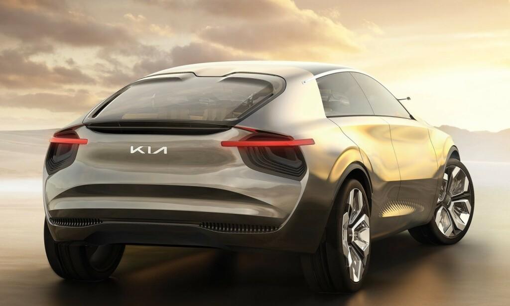 KIA CV: Kias nye crossover-SUV skal konkurrere med selveste Porsche Taycans spesifikasjoner, og gjøre 0-100 km/t på under tre sekunder. Foto: Kia