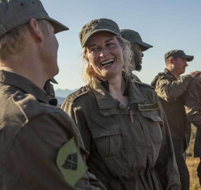 <strong>- FANTASTISK:</strong> Lise Karlsnes var strålende fornøyd med egen innsats og andreplassen i «Kompani Lauritzen». Foto: Matti Bernitz / TV 2