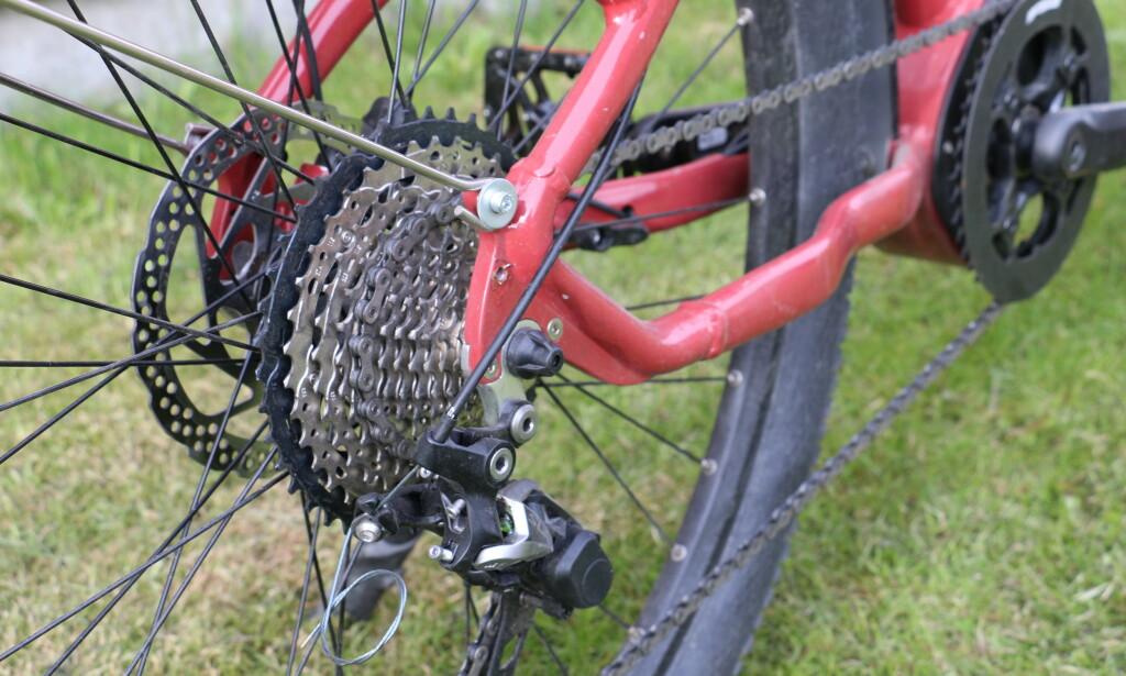 GIr og bremser fra Shimano. Foto: Martin Kynningsrud Størbu