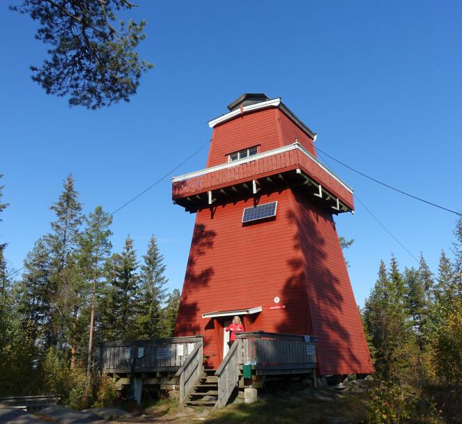 <strong>TOPPTUR:</strong> Haukenestårnet i Rømskog har sengeplass til fire og egner seg for venninneturen, ifølge DNT. FOTO: DNT