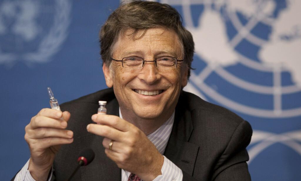 FAKTASJEKKET: Det ble hevdet at Bill Gates kontrollerer vaksineorganisasjoner. Dette viser seg å være feil. Foto: Anja Niedringhaus / AP / NTB Scanpix