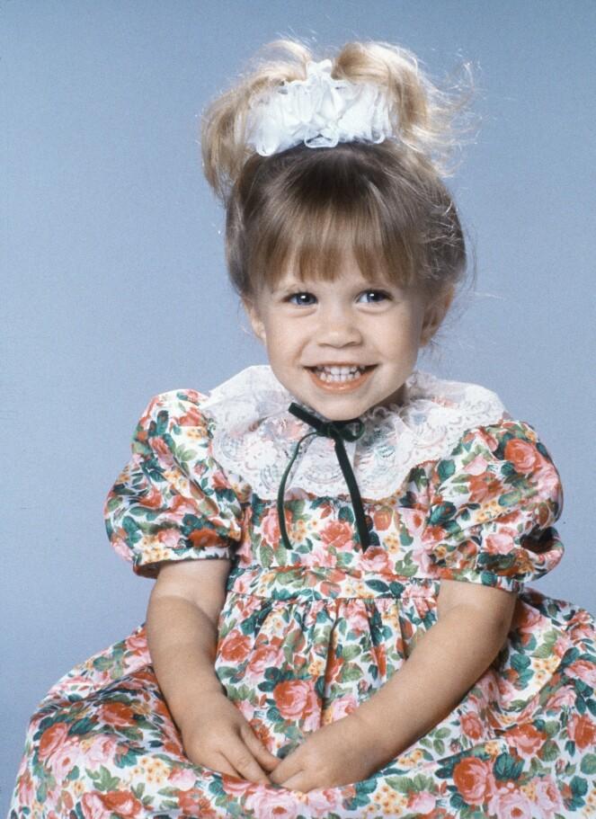 TIDLIG KRØKES: Mary-Kate Olsen i rollen som Michelle Tanner i «Full House» i 1989. FOTO: NTB Scanpix