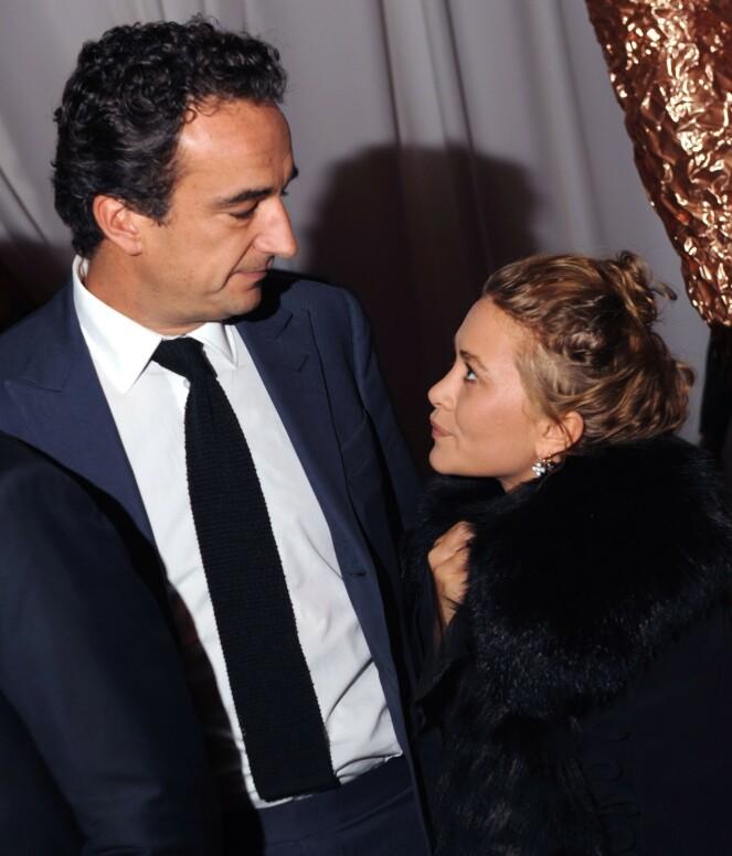 MANN OG KONE: Mary-Kate Olsen sammen med sin 17 år eldre ektemann Olivier Sarkozy. Nå går ekteskapet mot slutten. FOTO: NTB Scanpix