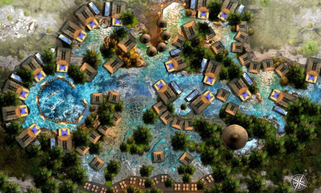 SVØMMEBASSENG: Hotellene skal bygges i både Asia, Afrika og Australia. Foto: Bensley