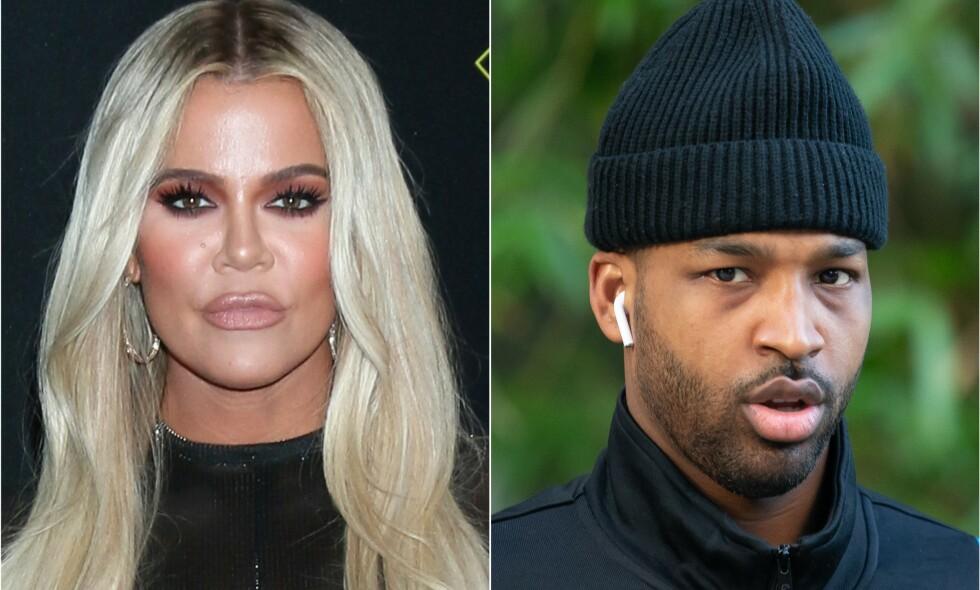 HEFTIG STRID: Kimberly Alexander hevder Tristan Thompson er faren til barnet hennes, og anklager dessuten Khloé Kardashian (t.v.) for å ha forfalsket resultatene av farskapstesten. Foto: NTB Scanpix