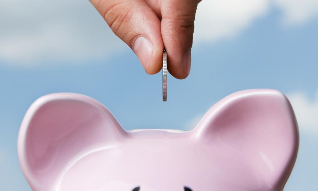 FYLL OPP GRISEN: Juni er gjerne en god måned å legge til side litt sparepenger, når feriepengene kommer - og du kanskje også har skattepenger til gode. Foto: NTB scanpix