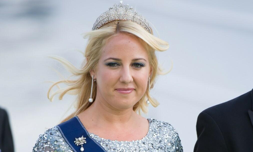 <strong>MÅ UTSETTE:</strong> Prinsesse Theodora har blitt nødt til å avlyse sitt kommende bryllup med Matthew Kumar. Her avbildet i bryllupet til prinsesse Madeleine og Chris O'Neill i 2013. Foto: NTB Scanpix