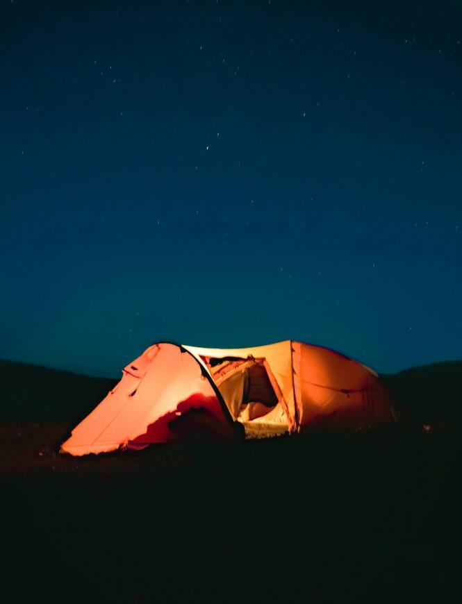 <strong>HUSKELISTE:</strong> For en god og komfortabel natt utendørs er det noen ting det kan være lurt å huske før man drar hjemmefra. FOTO: Privat