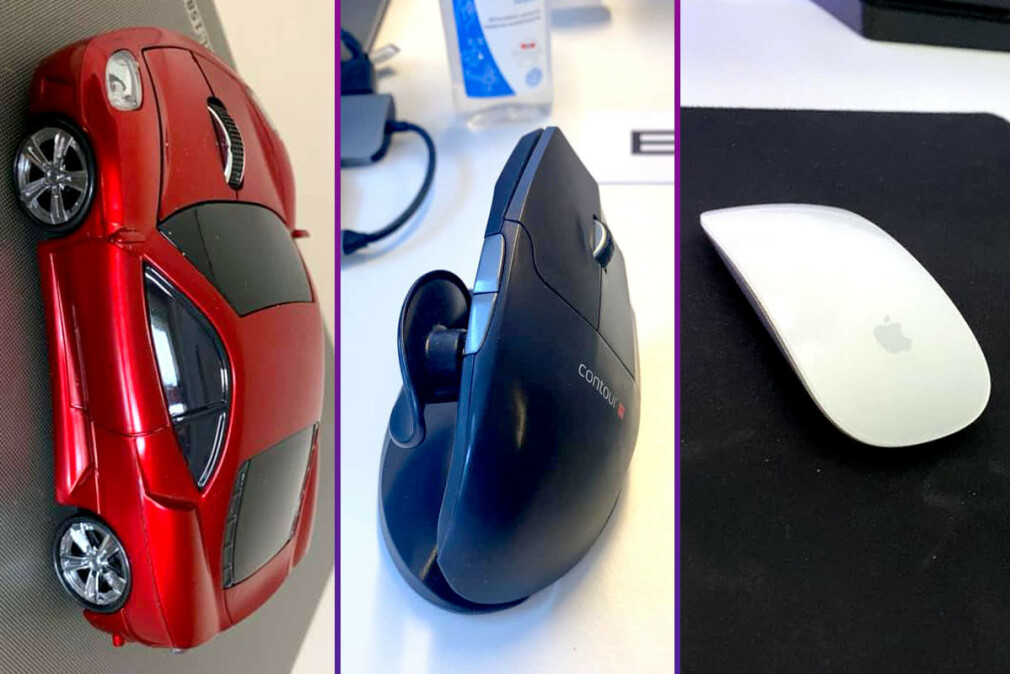 Hva med en bilmus, en vertikal mus eller en magisk mus? Her er musene norske utviklere faktisk liker. 📸: Privat / Ole Petter Baugerød Stokke