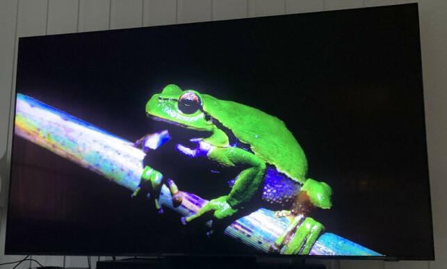 SORT ER SORT: Betrakter du TV-en rett forfra, er sortnivået helt på høyde med OLED. Foto: Bjørn Eirik Loftås