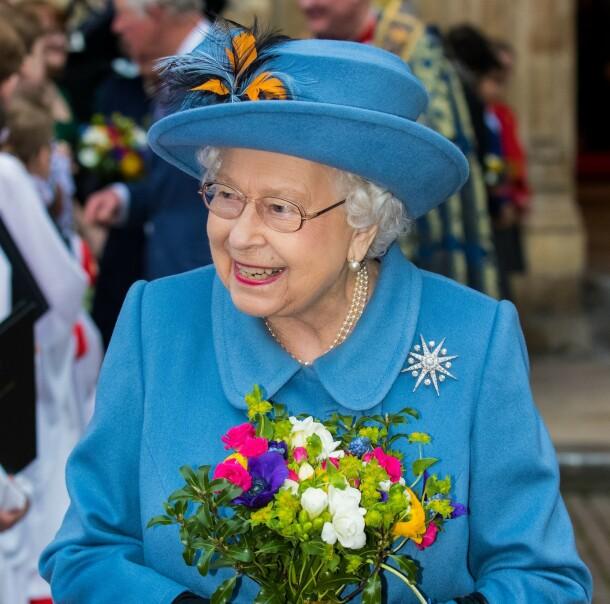 <strong>OVER TO MÅNEDER SIDEN:</strong> Dronning Elizabeth på vei ut fra Westminster Abbey etter Commonwealth Day Service 9. mars i år. Foto: NTB scanpix