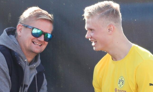 FAR OG SØNN: Alf-Inge Håland er sønnen Erling Braut Haalands fremste støttespiller og rådgiver. Foto: NTB scanpix