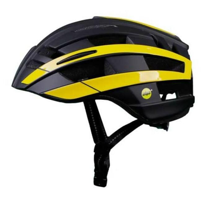 <strong>BILTEMA BEST:</strong> Biltema-hjelmen MIPS er den beste av de konvensjonelle hjelmene i testen. Foto: Folksam