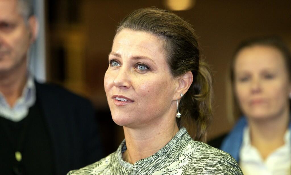 MEDITASJONSARRANGEMENT: Märtha Louise omtales som «prinsesse av Norge», til tross for at hun ikke skal bruke tittelen utenfor offisielle oppdrag for kongehuset. Foto: Andreas Fadum/Se og Hør