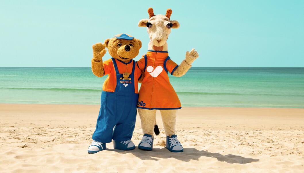 <strong>TIL NORGE:</strong> Vings maskoter Lollo og Bernie flytter hjem til Norge for en periode og blir å treffe på noen utvalgte Choice-hoteller. Foto: Ving