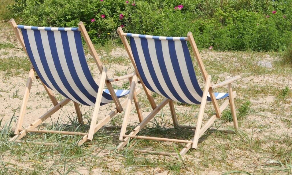 Badehotellfarger: Bruken av blå og hvite striper kjennetegner mange nordiske badehotell. Foto: Odd Roar Lange/The Travel Inspector