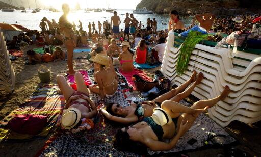 Ibiza 20140810 Solnedgangsparty i Benirras. Foto: John T. Pederen / Dagbladet
