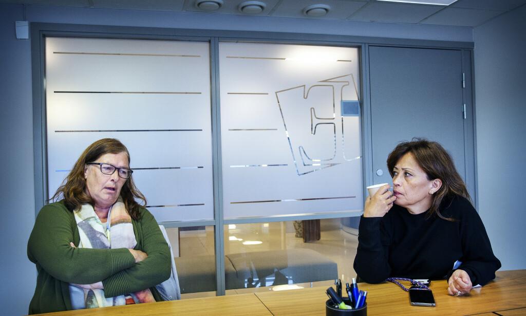 RETTFERDIGHET: - Jeg vil ha rettferdighet for Nerid, sier Ellen Høiness. Her sammen med familiens advokat Sidsel Katralen. Foto: Henning Lillegård/Dagbladet