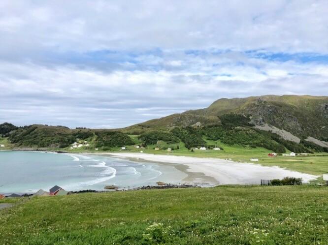 <strong>Refviksanden:</strong> Palmeøyer er ikke alene om å ha kritthvite sandstrender. Foto: Torild Moland/Magasinet Reiselyst