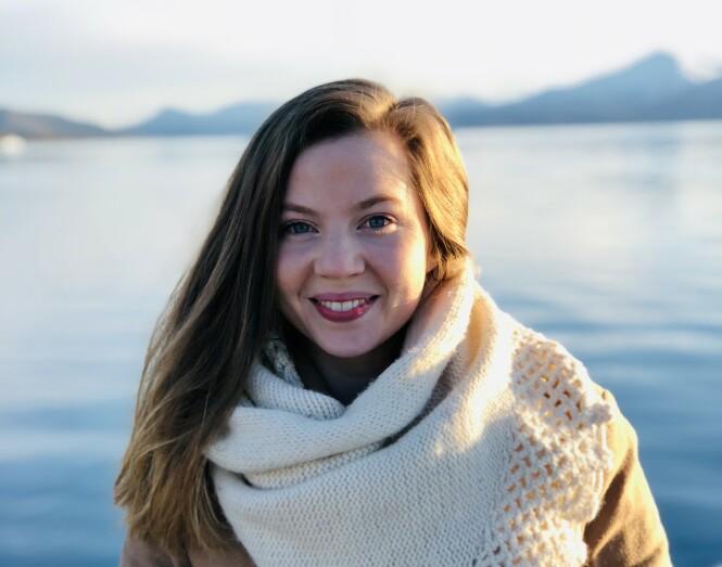 <strong>TROMSØ:</strong> Victoria Hovig Frigland er opprinnelig fra Oslo, men har bodd i Tromsø de siste ni årene og føler seg helt som en tromsøværing. Her fra idylliske Sommarøy. FOTO: Privat