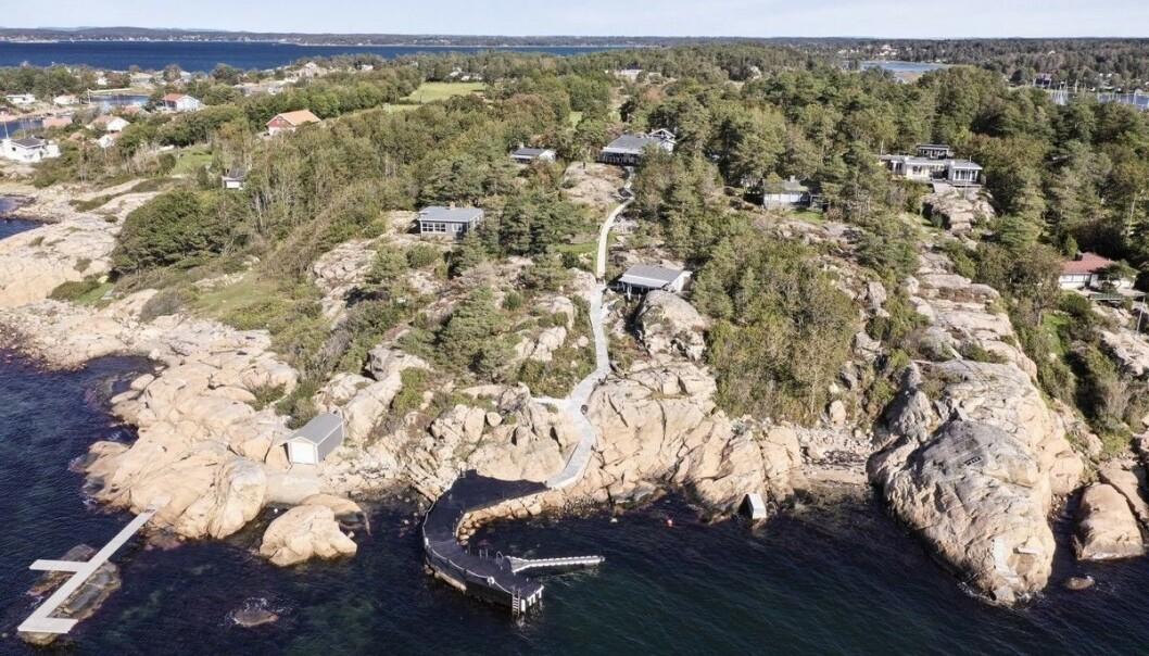 <strong>NÆR 30 MILLIONER:</strong> Et annet objekt som troner lista over Norges dyreste fritidsboliger, ligger på Skjæløy i Fredrikstad. Foto: Invisio