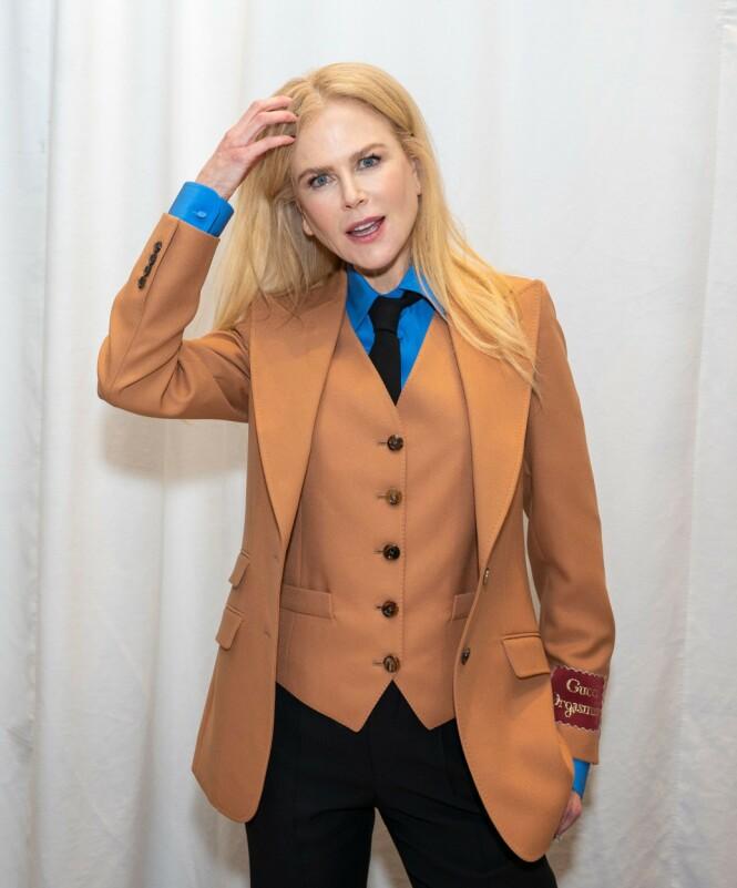 ULYKKESFUGL: Nicole Kidman brakk ankelen sin ute på en løpetur. Her avbildet i mars. Foto: NTB Scanpix