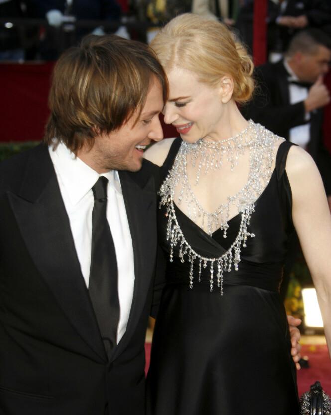 2008: Etter Keith Urbans romantiske gest på Nicole Kidmans 38-årsdag visste hun at countrystjernen var den rette. Foto: NTB Scanpix