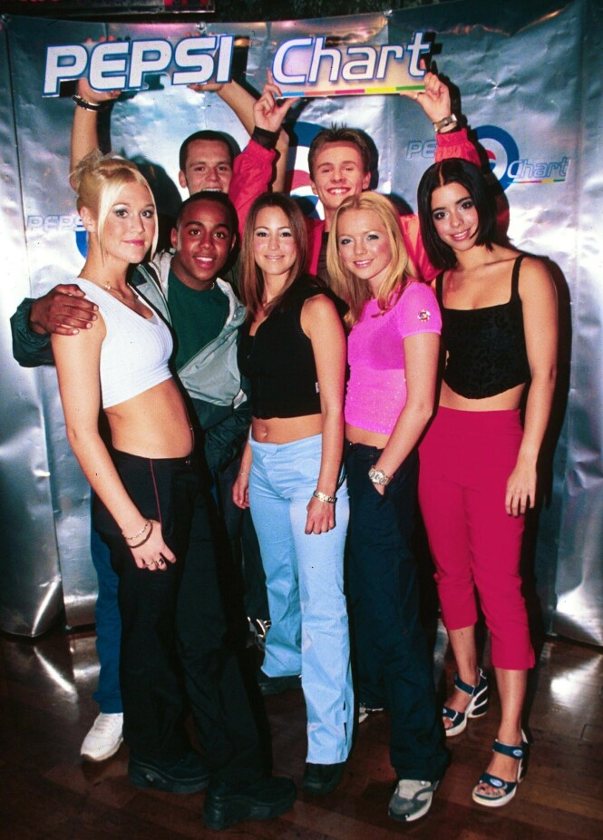 1999: S Club 7 erobret hitlister verden over med låter som «Don't Stop Movin'» og «S Club Party». Foto: NTB Scanpix