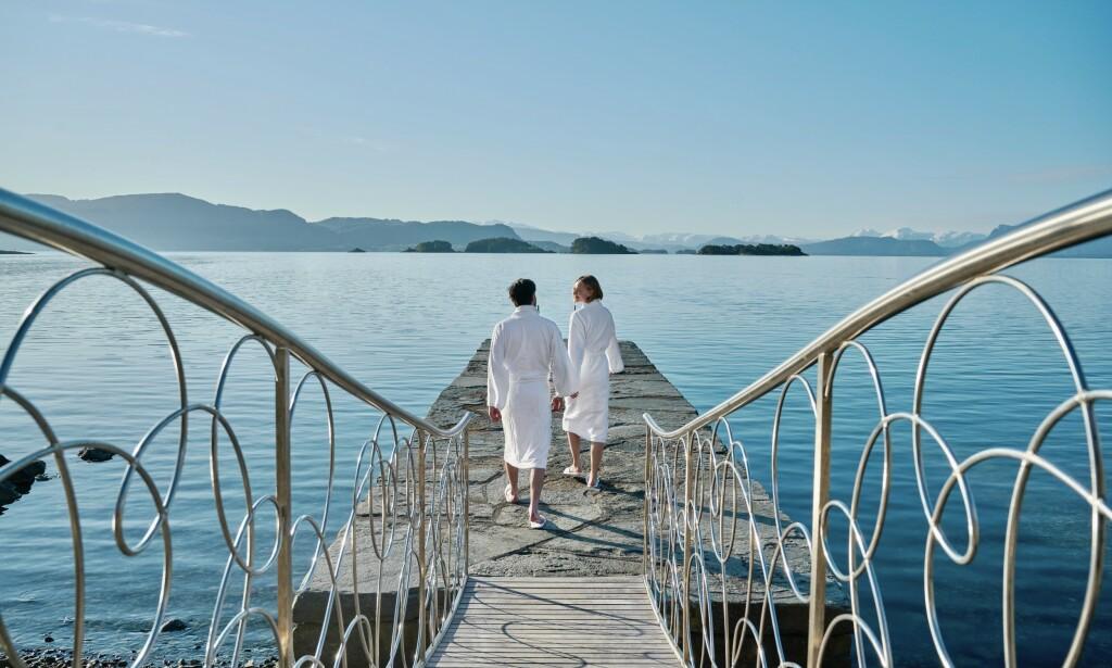 Badeklare: Det startet som et sjøbad bygget av daværende statsminister Christian Michelsen. I dag er Solstrand Hotel & Spa et av Vestlandets populære badehotell. Foto: Helge Hansen