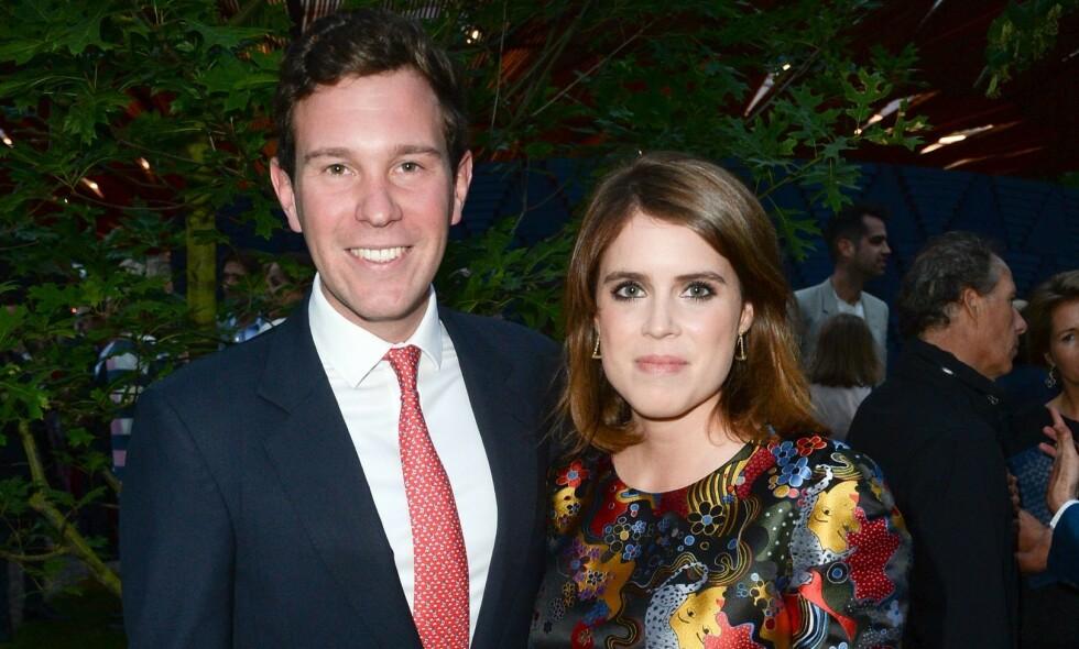 GODT GIFT: Jack Brooksbank giftet seg med dronning Elizabeths barnebarn prinsesse Eugenie i 2018. Nå er det blitt kjent at prinsessens svigerfar, George Brooksbank, tidligere i år ble smittet av coronaviruset. Foto: NTB Scanpix