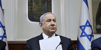 image: Netanyahu klar for pinebenken