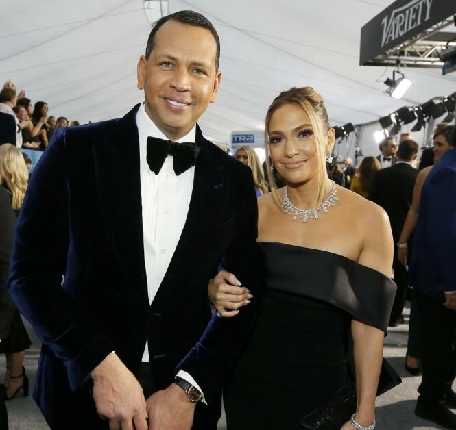 <strong>FORLOVET:</strong> I mars i fjor forlovet Alex Rodriguez og Jennifer Lopez seg. De har ennå til gode å bli rette ektefolk. Foto: NTB Scanpix