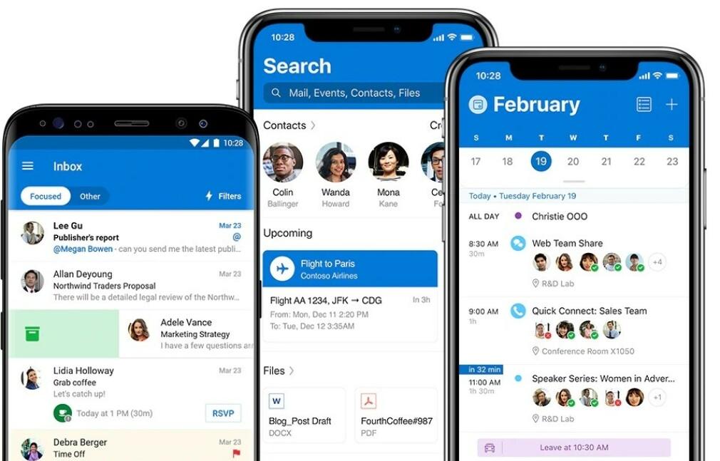 OUTLOOK: I slutten av juni i år vil du ikke lenger kunne se Outlook-appen for iOS i nynorsk språkdrakt. Foto: Microsoft